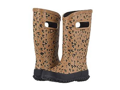 Bogs Kids Rain Boots Leopard (Toddler/Little Kid/Big Kid) (Tan Multi) Girls Shoes