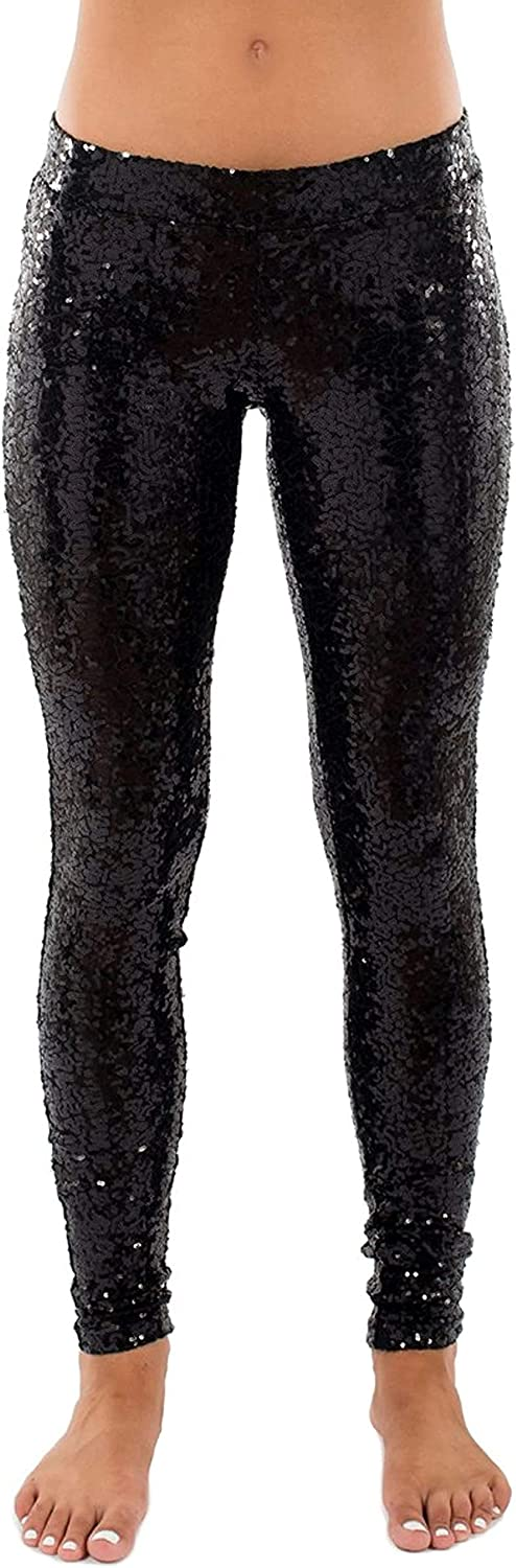 Tipsy Elves Shiny Sequin Leggings Women Outfits Year-end gift favorite for Holiday