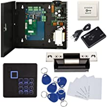 Keypad Reader North American Heavy Duty Strike Lock Access Control System for Gym Center Sports Club Fitness Cente or Home/Office Entrance Security Kits Phone APP Remotely Open Door