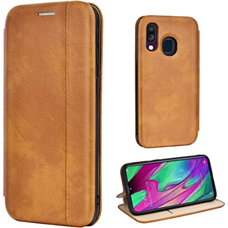 Leaum Leder Handyhülle Für Samsung Galaxy A40 Hülle Elektronik