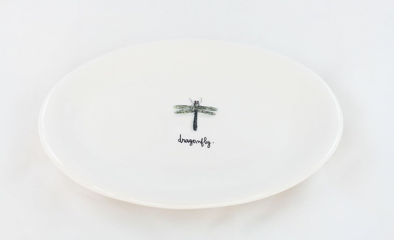 OFFicial store Rae Dunn Magenta Ceramic Appetizer Dessert D - Salad Sale item Plate