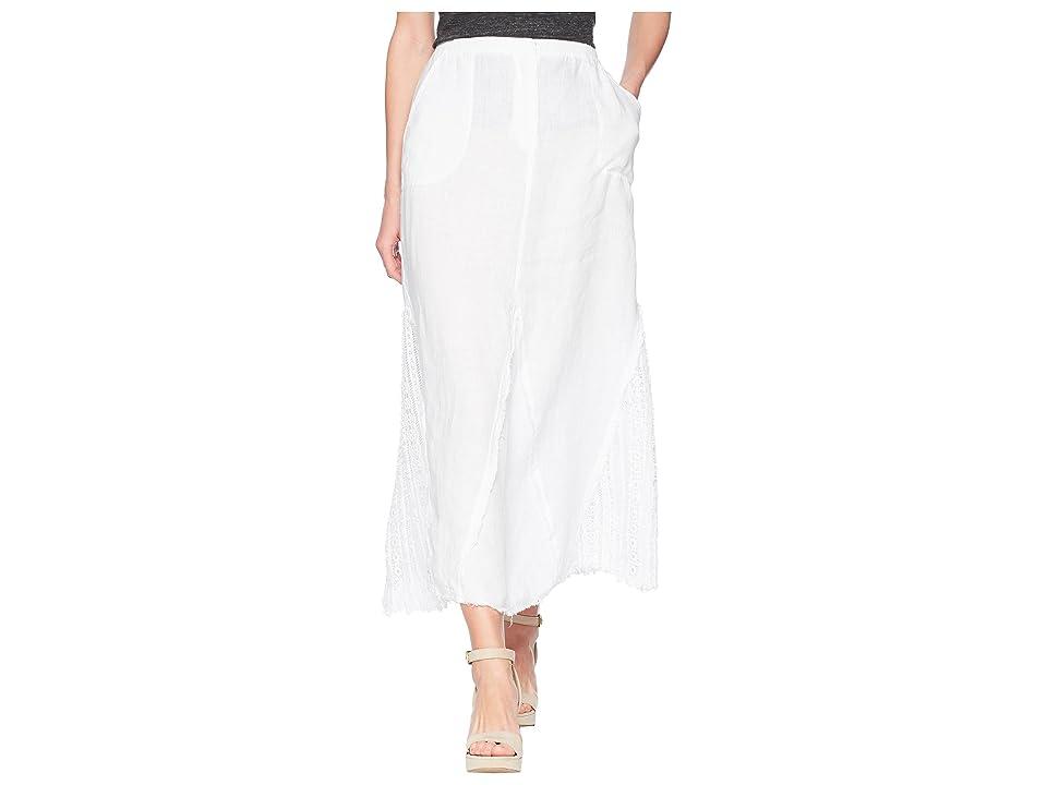 XCVI Kendall Linen Skirt (White) Women