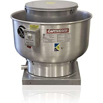 Amazon Com Restaurant Canopy Hood Grease Rated Exhaust Fan High Speed Direct Drive Centrifugal Upblast Exhaust Fan With Speed Control 24 3 4 Base 0 75 Hp 115 Volt Single Phase Motor 1500 2200 Cfm Du85hfa Appliances