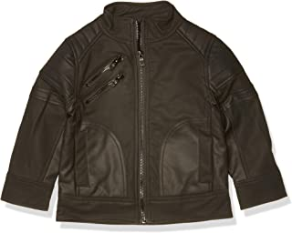 Boys Textured Faux Leather Jacket
