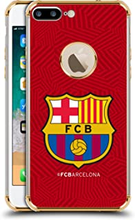 Official FC Barcelona Red 2017/18 Crest Gold Shockproof Fender Case Compatible for iPhone 7 Plus/iPhone 8 Plus