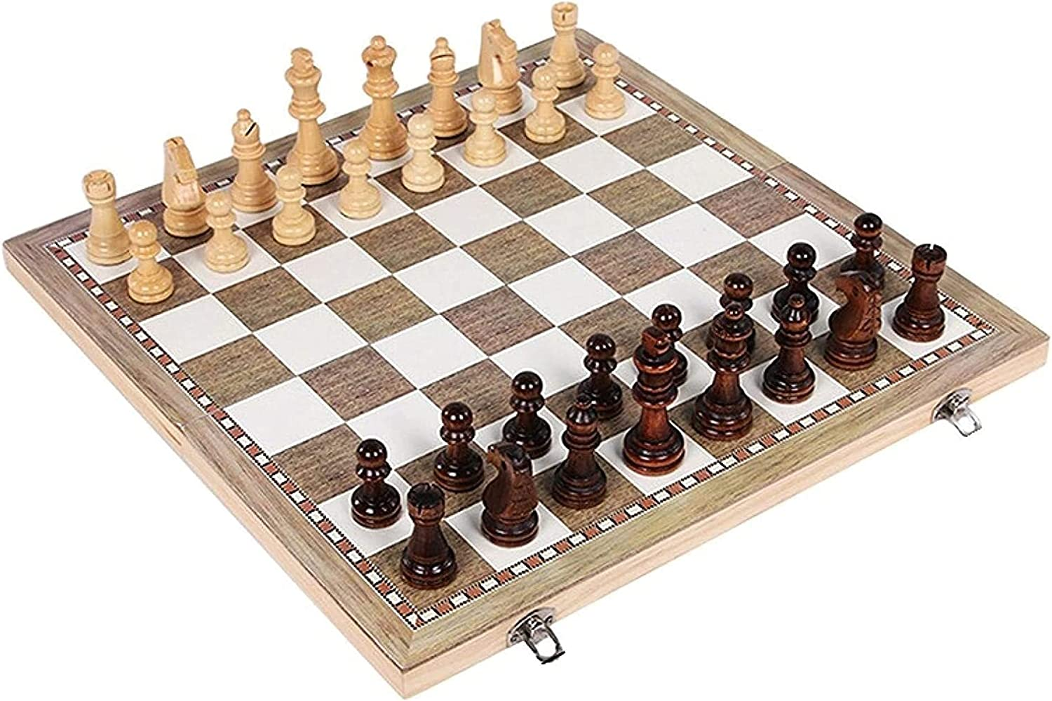 MTCWD Handmade Wooden Max 67% OFF supreme Chess Int Foldable Set Portable