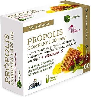 comprar comparacion Própolis complex 1.600 mg 60 cápsulas con echinácea, malvavisco, tomillo, drosera, vitamina C, eucalipto y orégano.