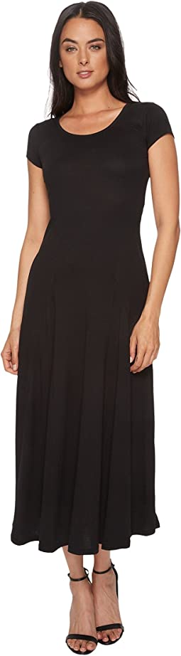 Jersey Scoop Neck Maxi Dress