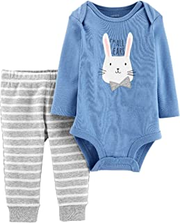 Baby Boys' 0M-24M 2 Piece Easter Top and Pants Set