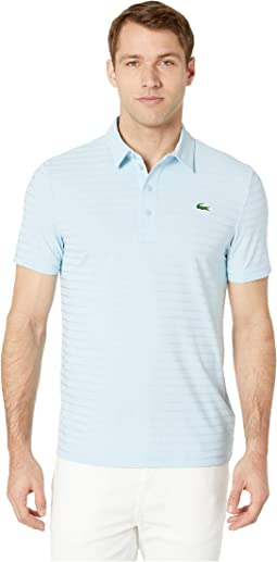 d63963fabbb9d Dream Blue. Lacoste. Short Sleeve Golf Ultra Dry Tech Jersey Solid Jacquard  Polo