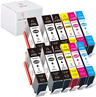 Miss Deer Compatible Ink Cartridge Replacement for HP 564XL 564 XL Used in Photosmart 5520 6510 6515 6520 7510 7520 7525 C5370 C5380 B110a DeskJet 3520 3522 Officejet 4620(4BK/PBK/C/M/Y) 12 Pack Combo