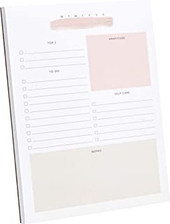 "Daily to-Do List Notepad – 50 Sheets Daily Planner Notepad Tear Off Size: A5 (8.3 x 5.8"") – Schedule, Checklist, Gratitude & Self Care"