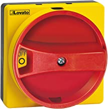 ASI GAX61 Disconnect Switch, Door Mount, Round, Red/Yellow Handle