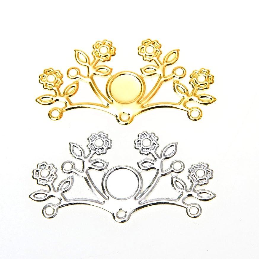 Monrocco 50PCS Gold & Siver Metal Leaf Pendant DIY Flat Leaves Pendant for Bracelet Necklace Jewelry Making