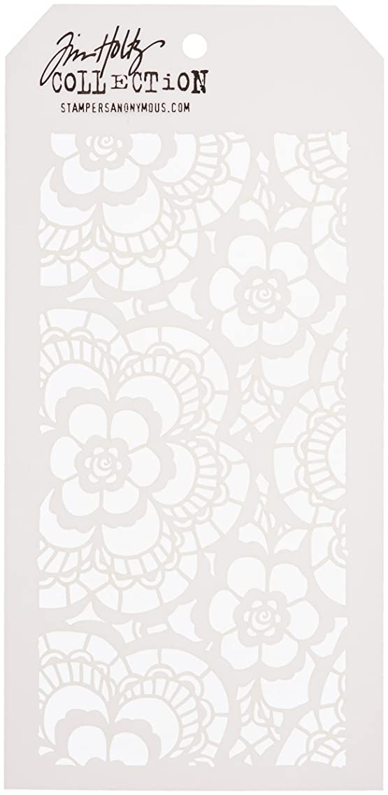 Stampers Anonymous Tim Holtz Layered Lace Stencil, 4.125