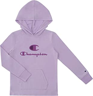 Champion Heritage Girls Long Sleeve Hooded Tee Shirt Stretch Top Kids Clothing with Pocket