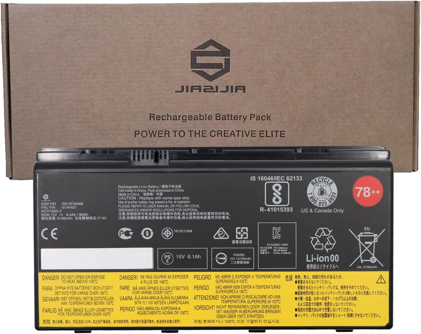 Max 45% OFF JIAZIJIA 01AV451 Laptop Max 46% OFF Battery Replacement ThinkPad Lenovo for