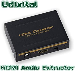 HDMI Audio Extractor,Udigital HDMI to HDMI + Optical Toslink(SPDIF) + RCA(L/R) Stereo Analog Outputs Video Audio Splitter Converter Support 3D for PS4 Xbox One DVD Blu-ray Player HD TV Projector?