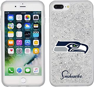 NFL Licensed Seattle Seahawks Clear Protective Silver Glitter Case - iPhone 8 Plus/7P/6sP/6P