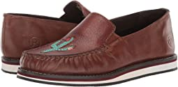Brown Burnished Leather/Turquoise Cactus