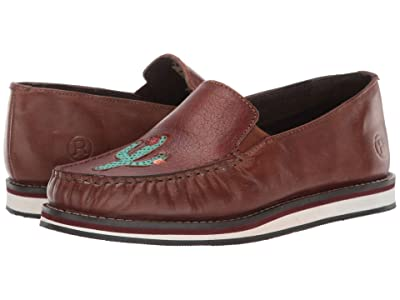 Roper Lone Cactus (Brown Burnished Leather/Turquoise Cactus) Women