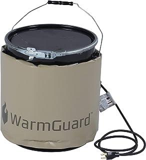 WarmGuard WG05 Insulated Pail Band Heater - Bucket Heater, Fixed Internal Thermostat Max Temp 145 F,Tan
