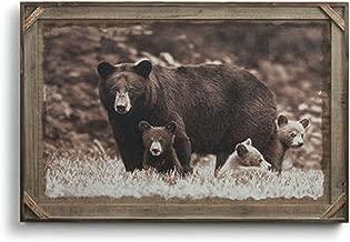Big Sky Carvers Denver Bryan Black Bear Family Barnwood Gallery Print, 36