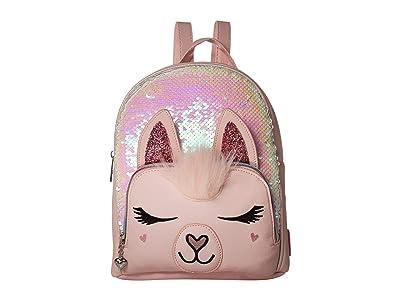 OMG! Accessories Sequin Llama Mini Backpack (Pink) Backpack Bags