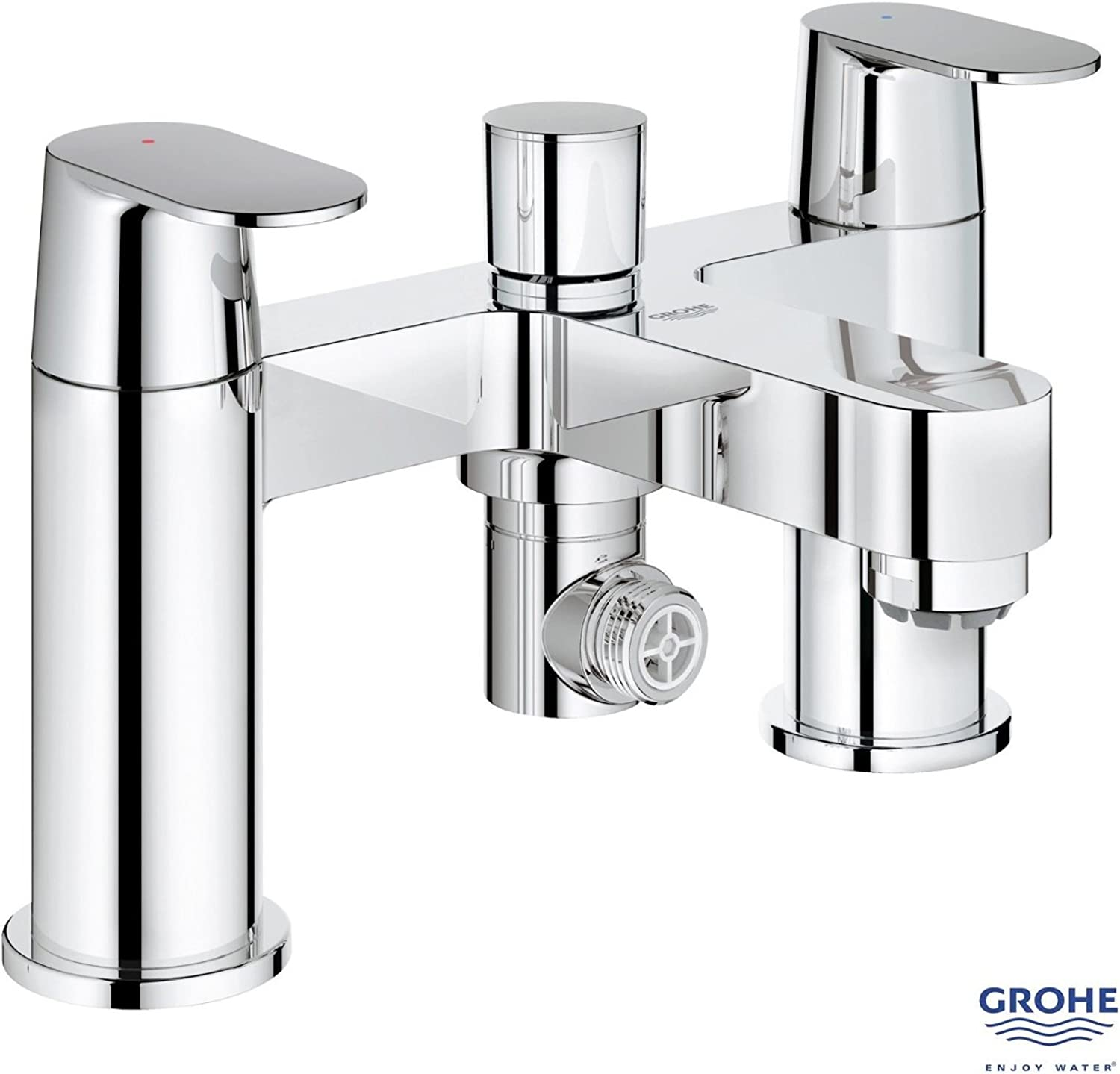 GROHE Eurosmart Cosmo Deck Mounted Bath Shower Mixer, Low High Pressure, 25129 000