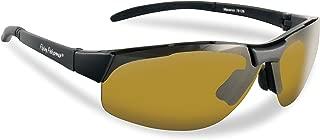 Flying Fisherman Maverick Sunglasses, Matte Black/Yellow Amber