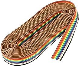 ULTECHNOVO 10 Broches Mâle à Femelle Fil de Cavalier de Planche à Pain Câbles Dupont Câbles Ruban Multicolores