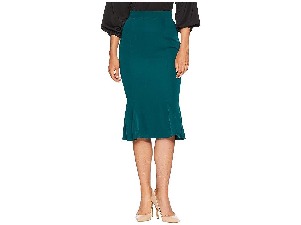 Unique Vintage Micheline Pitt For Unique Vintage Flounce Skirt (Forest Green) Women
