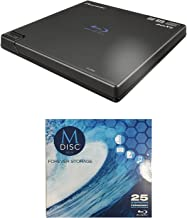 Pioneer (BDR-XD05B) 6X Slim Blu-ray Burner in Retail Box Bundle with CyberLink Software and 1pk M-Disc BD