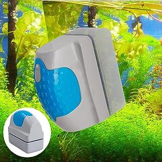 Carejoy 水槽磁力ブラシ 水族館 磁気ブラシ 強力磁石 コケ取り 水槽表面汚れを落とす コケ取りガラスクリーナー 水族館グラス用ブラシ 金魚鉢クリーンブラシ 水槽内の廃棄物掃除可能 強力清潔