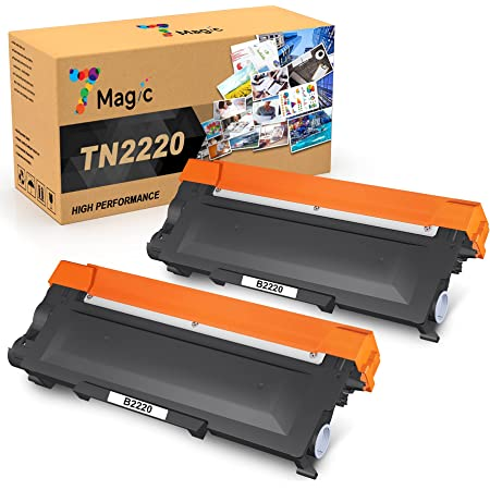 7Magic TN2220 TN2010 Toner, Sostituzione Cartuccia Toner Compatibile per Brother MFC-7360N MFC-7460DN DCP-7055 DCP-7060D DCP-7065DN HL-2240 HL-2130 HL-2132 HL-2135W HL-2240 HL-2250DN (Nero, 2-pack)
