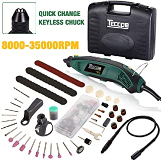Rotary Tool Kit with MultiPro Keyless Chuck, Upgraded Flex shaft, Cutting Guide, Auxiliary Handle, 84 Attachments and Accessories Variable Speed Electric Drill Set for Crafting Project and DIY