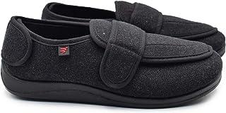 شباشب W&Lesvago للرجال لمرضى السكري مع إغلاق قابل للتعديل، أحذية ذات عرض عريض للقدم المتورمة من شركة Edema
