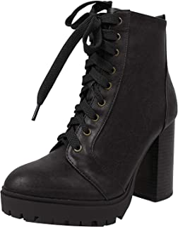 Best block heel boots with laces Reviews