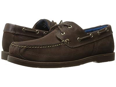 Timberland Piper Cove Leather Boat Shoe (Dark Brown Nubuck) Men