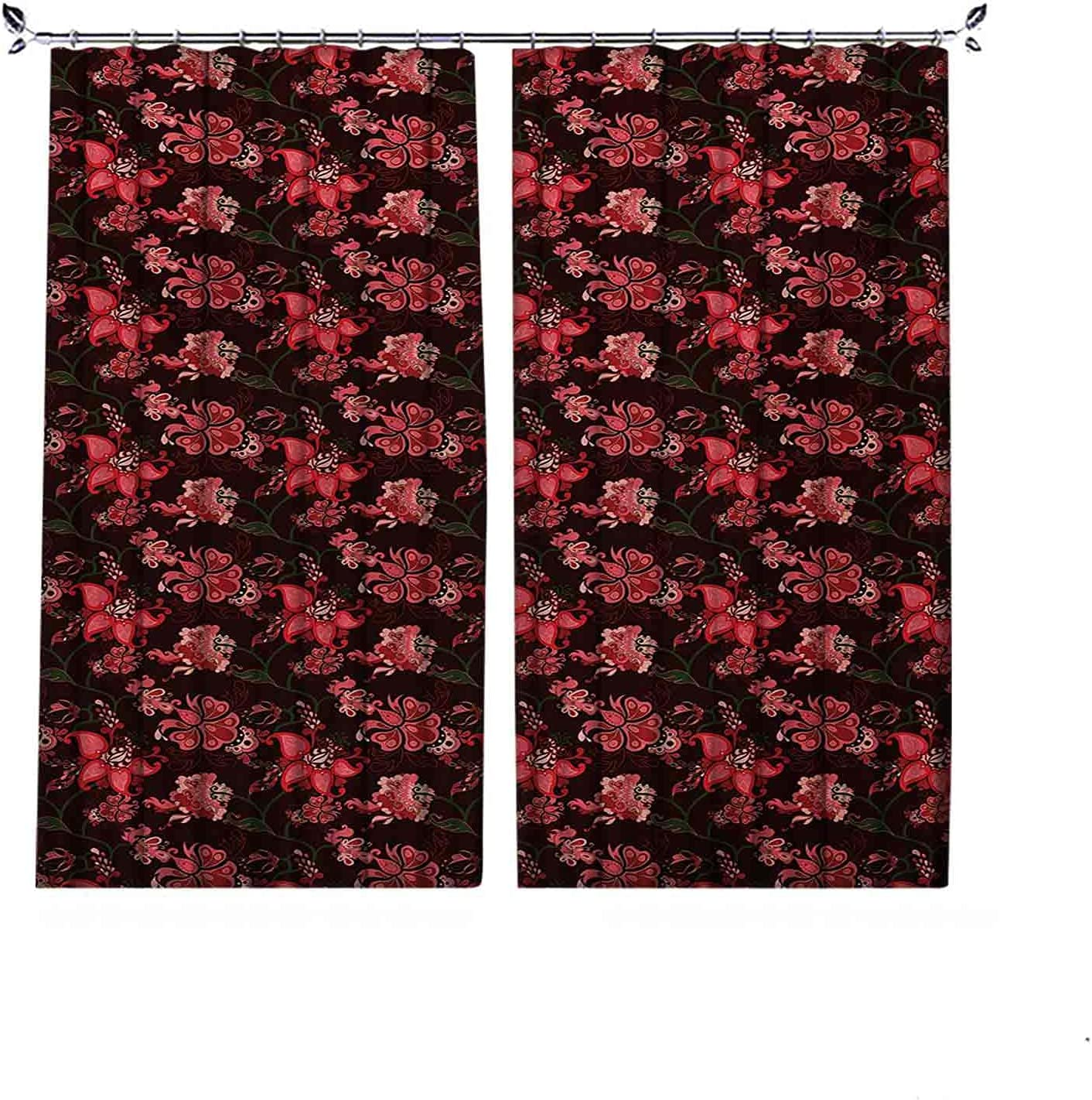 Energy Max 44% OFF Saving Blackout Romantic Pleated National products with Paisley No Curtain