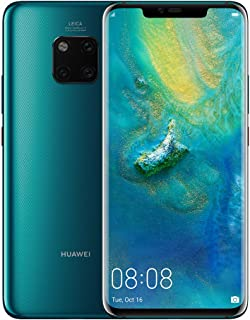 Huawei Mate 20 Pro Smartphone, 6 GB RAM + 128 GB ROM, 6.39'' display, IP68, Kirin 980 chipset, 40W HUAWEI SuperCharge, Leica Triple Camera, In-screen Fingerprint, 3D Face Unlock, Green