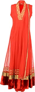Fatiz Women's Softnet Churidar (86, Red, XL)