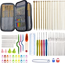 Akacraft 94 Pieces Crochet Hooks & Knitting Needles Set Kit - Portable Case, Contains All The Kntting & Crochet Accessorie...