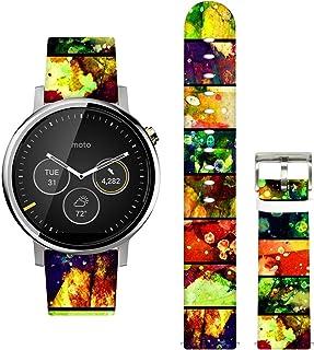 Ecute سريعة الإصدار -20 مم عرض حزام ساعة جلد لساعة سامسونج جير S2 الكلاسيكية / جير الرياضة / Huawei/Ticwatch/Garmin / موتو...