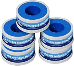 Everflow 811-5 PTFE Thread Seal Tape for Plumbers, White 1/2 Inch x 520 Inch (Pack of 5 Rolls)