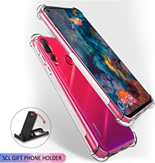 SCL Crystal Clear Case for Honor View 20, Soft Flexible Silicone Gel TPU Bumper Case [Anti Scratch][Anti Collision] Compatible with The Honor View 20 - Full Clear