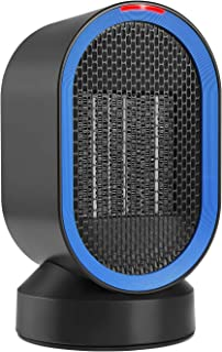 COMLIFE Portable Space, PTC Ceramic Heater with Fan&Auto Oscillation, ETL Listed, Small Desktop Heating Fan with Overheat & Tip Over Protections for Office Indoor Home, 600 W