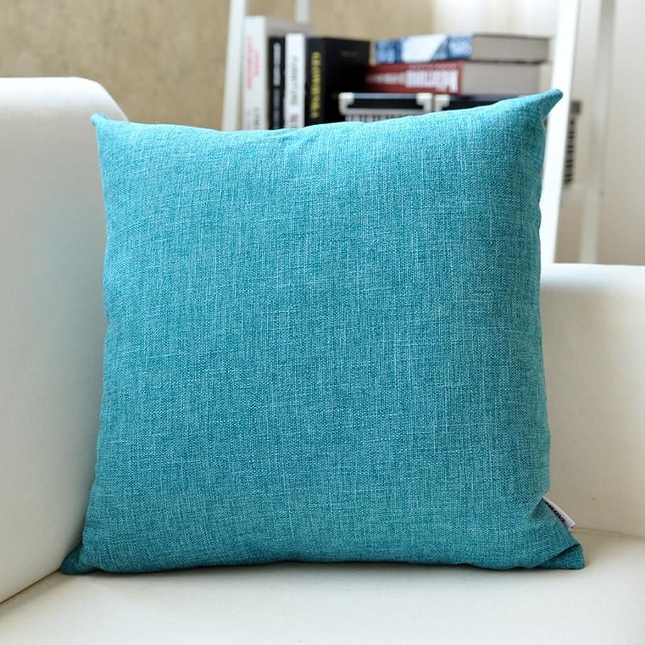 配偶者然とした思慮のない2J-QingYun Trade 厚いリネンクッションソファクッションオフィスベッドサイドカークロスウエスト枕枕クッション (Color : 6, サイズ : 45*45cm)