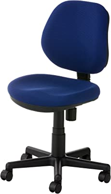 オフィスコム オフィスチェア 事務椅子 布張り 肘なし 幅530×奥行570×高さ775~895mm RD-1 ネイビー