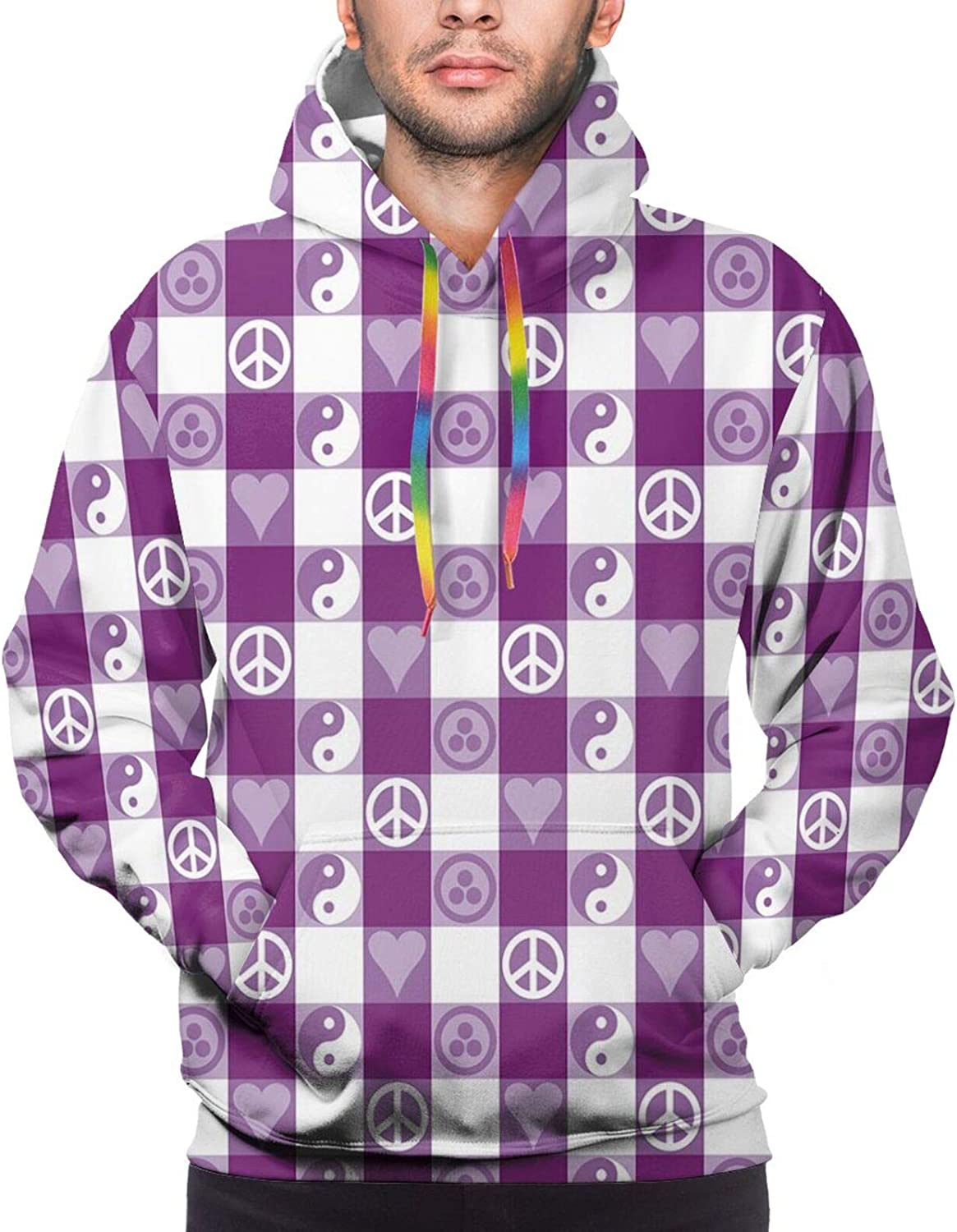 Men's Hoodies Sweatshirts,Pixel Art Style Heart Connected to A Controller with Simplistic Design